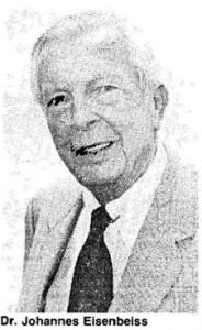 Dr. Johannes Eisenbeiss. Quelle: Archiv der Landeszeitung Lüneburg